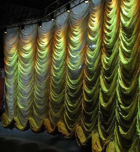 Liquidx wolkenstore gordijn groen