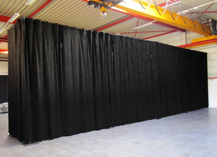 gordijnen zwart Liquidx pipe&drape