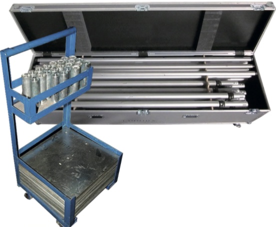 Pipe en drap flightcase